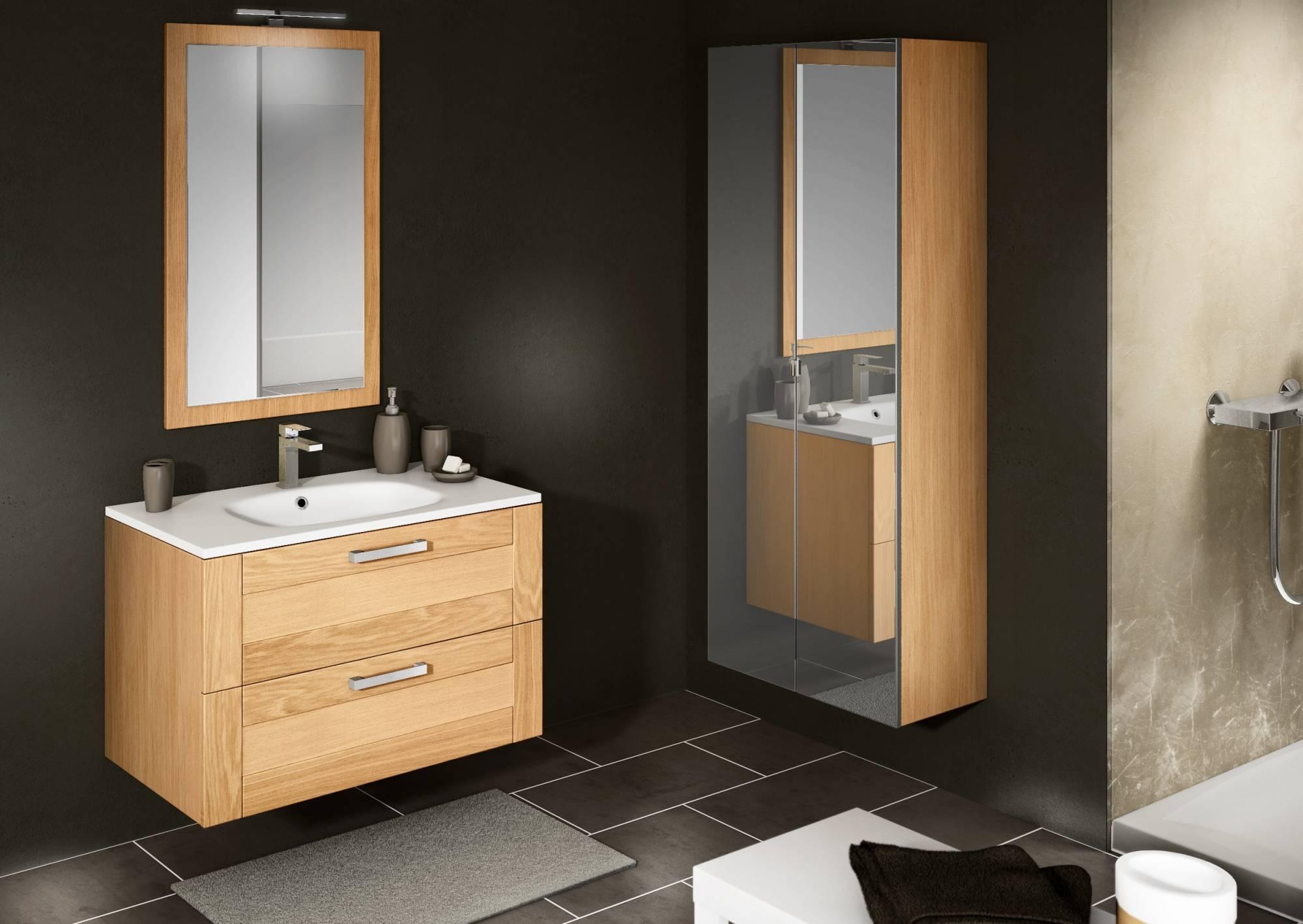 meuble suspendu pour salle de bains cosy 90cm eguilles