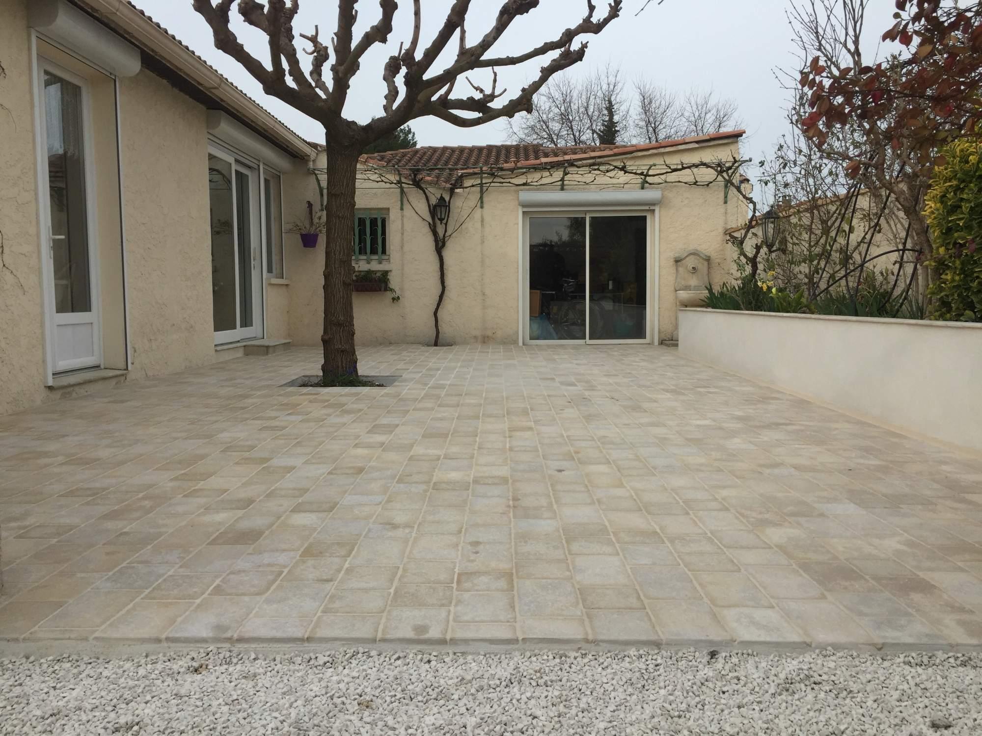 Terrasse En Paves De Montfort Longueur Libre Carrelage