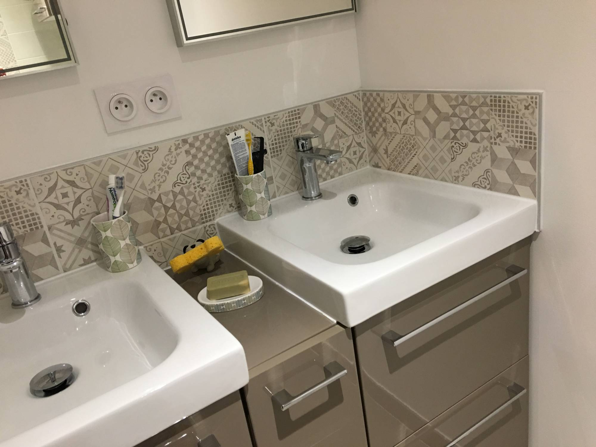 Id e d co salle de bain design for Meuble pour douche italienne