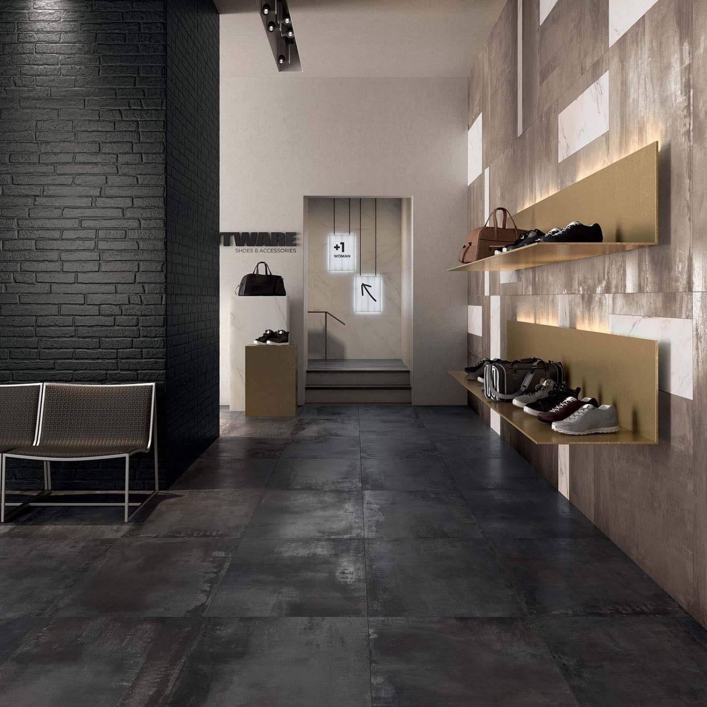 Carrelage céramique effet métal pour sol intérieur Eguilles ...