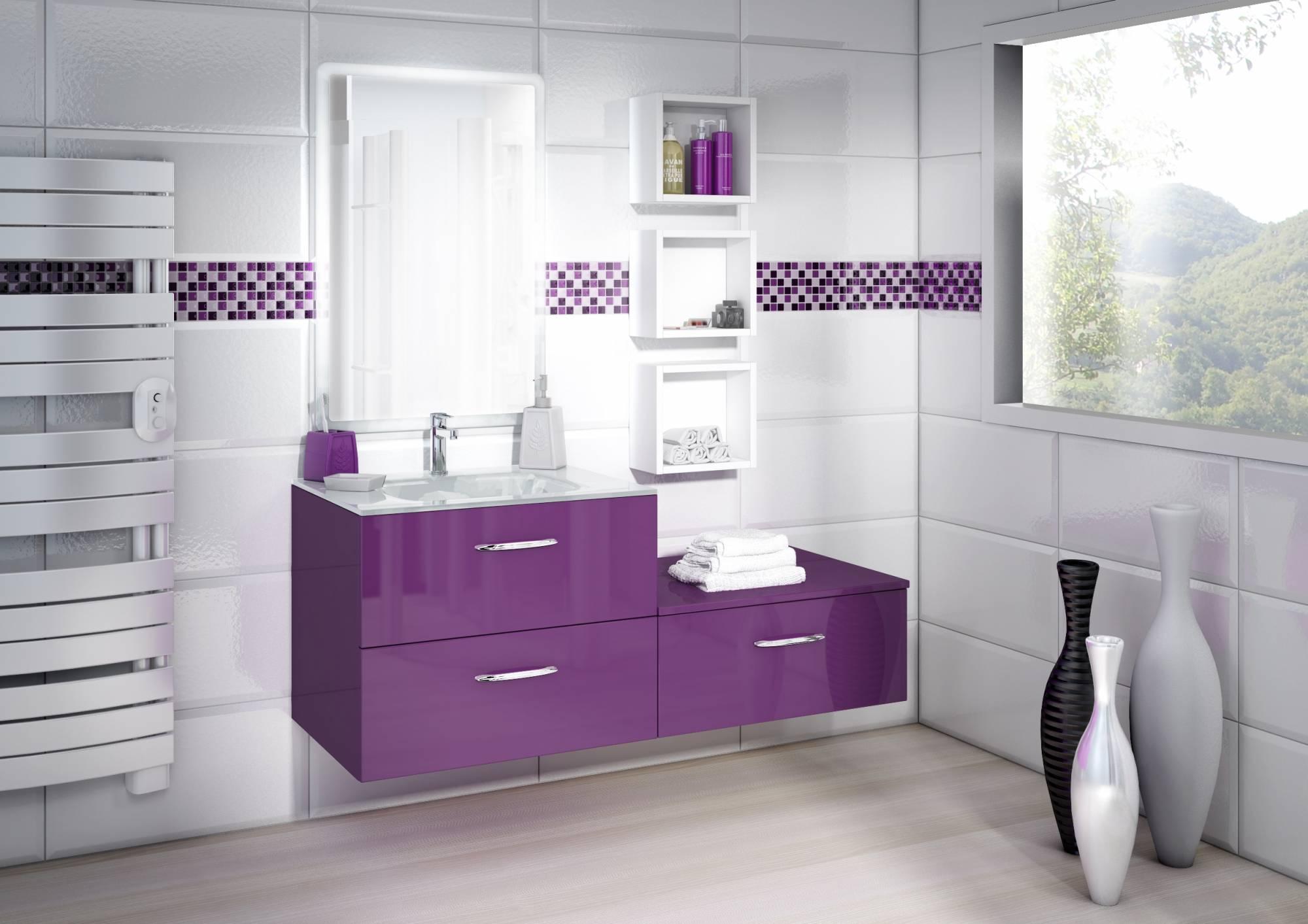 meuble suspendu de salle de bains prune meuble dappoint eguilles 13510 - Meuble Salle De Bain Prune