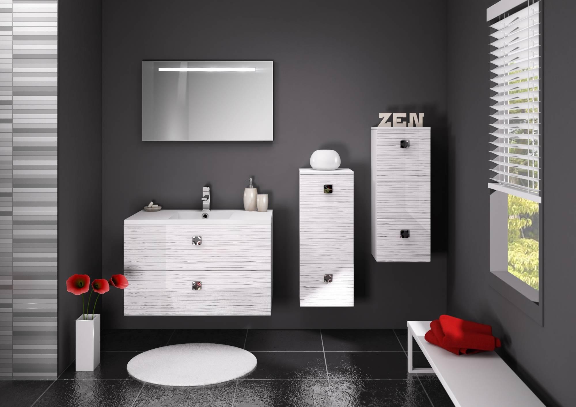 Vente de meuble suspendu pour salle de bains loft eguilles for Meuble cuisine pour salle de bain