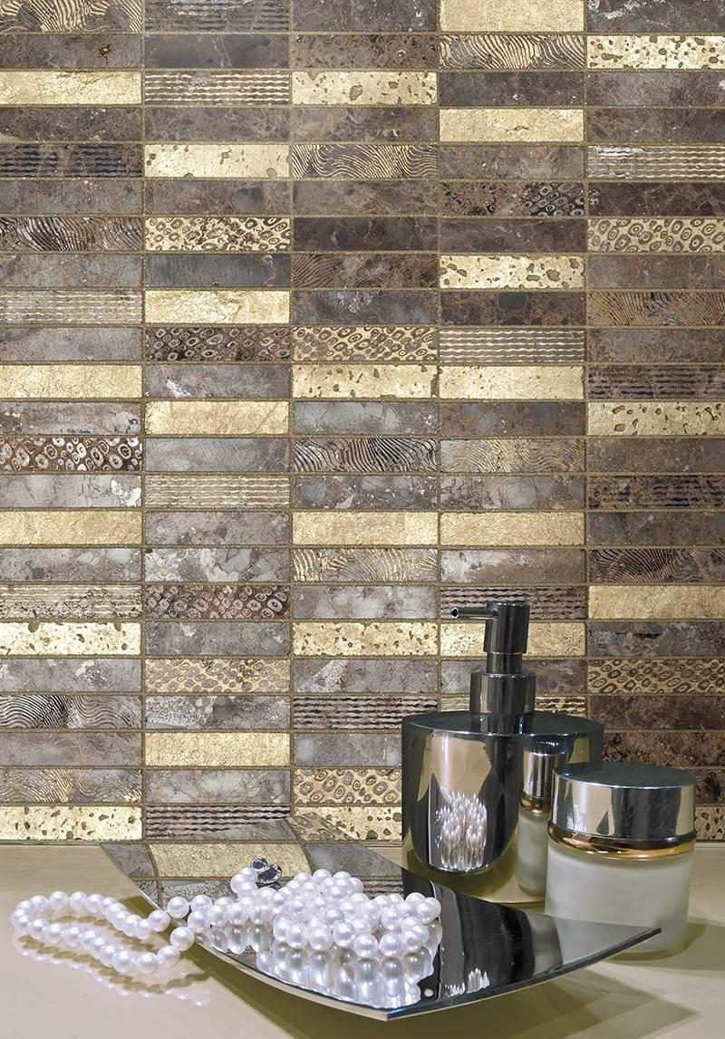 Mosa que barettes pour murs cuisine ou salle de bains - Mosaique sur mur exterieur ...
