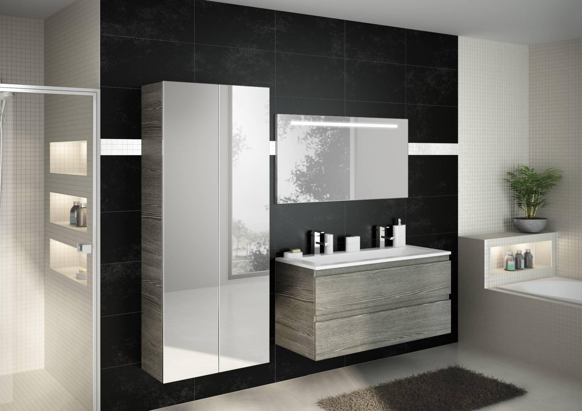 Vente de meuble suspendu pour salle de bains rivage for Meuble de salle de bain suspendu