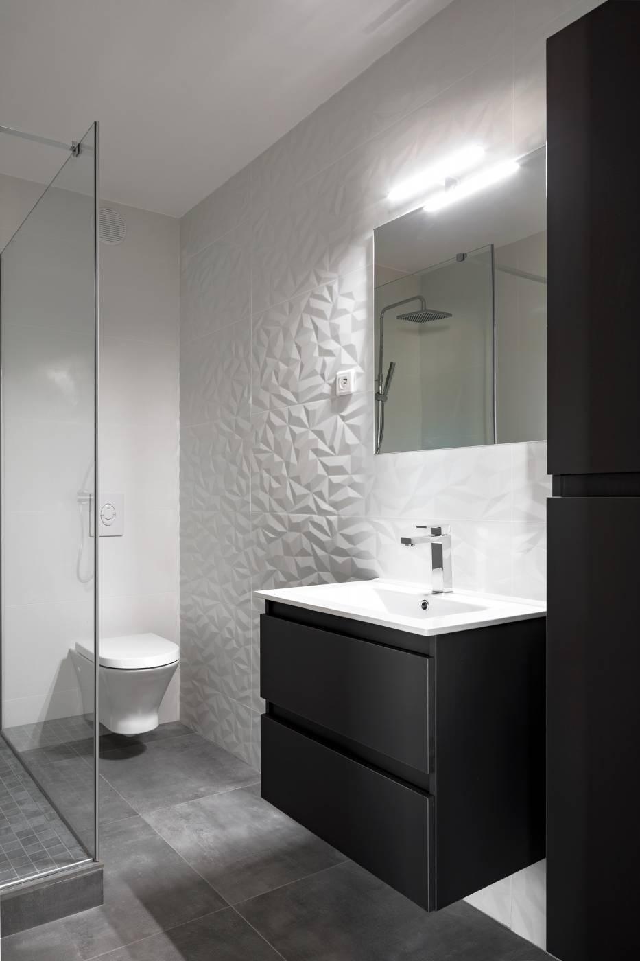 Rénovation Salle De Bains Carrelage à Relief Aix En