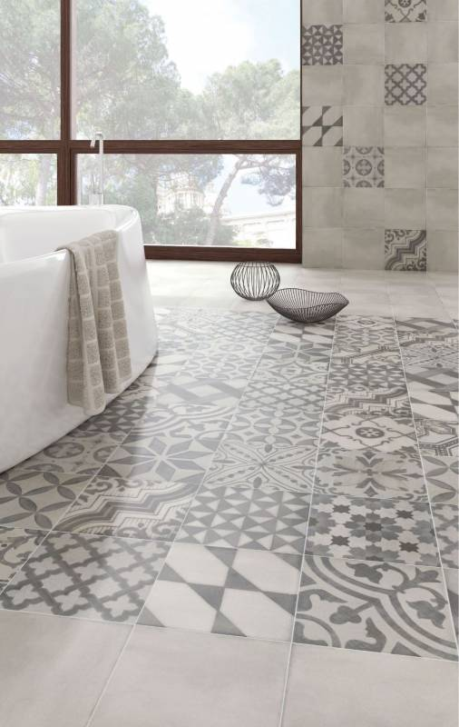 Vente de carreaux imitation carreaux de ciment eguilles 13510 - Carrelage grand carreau ...